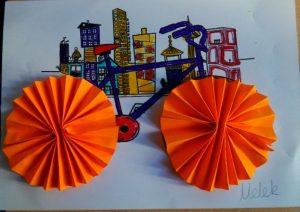 bicycle accordion craft idea for preschoolers