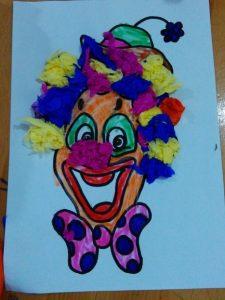 clown activity idea for homeschool