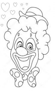 funny clown craft activity idea for preschool