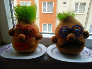 funny grass man activity for preschool