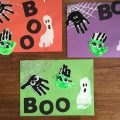 handprint preschool halloween craft activities boo