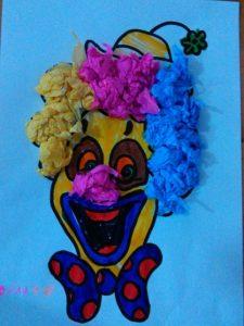 kindergarten craft idea for clown