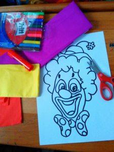 preschool clown fun craft ideas