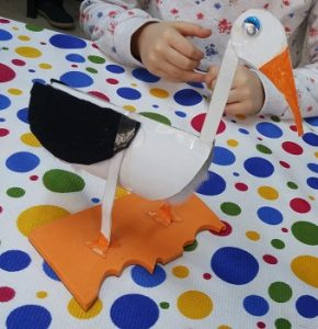 stork craft ideas for kinder garten
