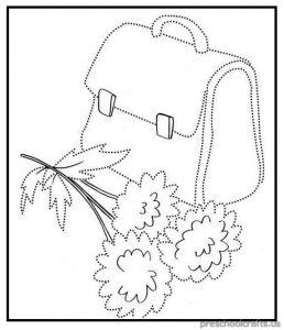 trace the line bag free printable