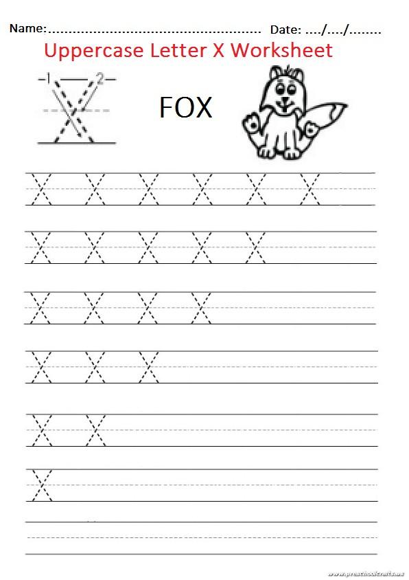 Uppercase Letter X Worksheet / Free Printable - Preschool and ...