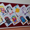 Penguin bulletin board ideas for preschool and kindergarten - craft ideas