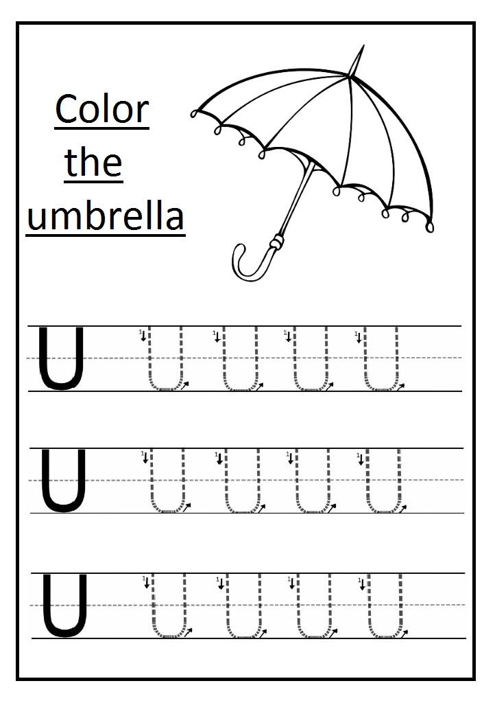 uppercase letter u worksheets free printable preschool and kindergarten. Black Bedroom Furniture Sets. Home Design Ideas