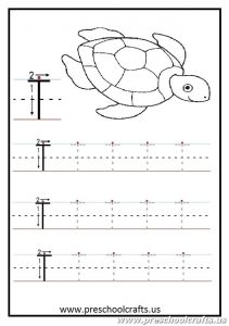 Uppercase letter T Worksheets Kindergarten and 1'st grade