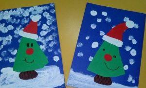 fun christmas tree crafting for preschool