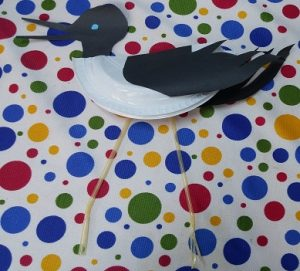 paper plate and pipette stork craft ideas for kindergarten and preschool