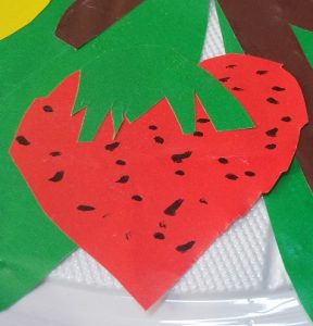 strawberry craft for preschool and kindergarten