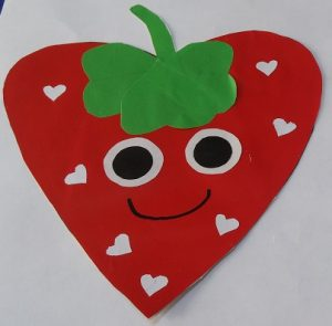 strawberry craft idea for preschool and kindergarten