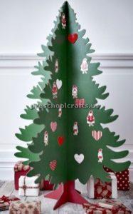 Christmas tree craft ideas for preschool - kindergarten