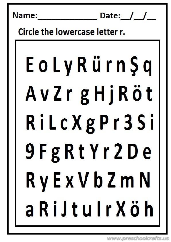 Lowercase Letter r Worksheet Free Printable - Preschool and ...