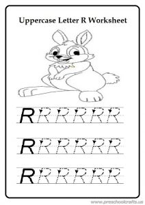 Free practice uppercase letter r worksheet for preschool