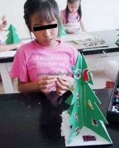 Happy New Year Christmas Tree Craft for kids