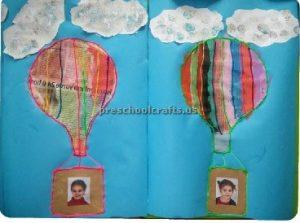 Hot air balloon craft ideas for preschool and kindergarten