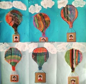 Hot air balloon craft ideas for preschool kindergarten