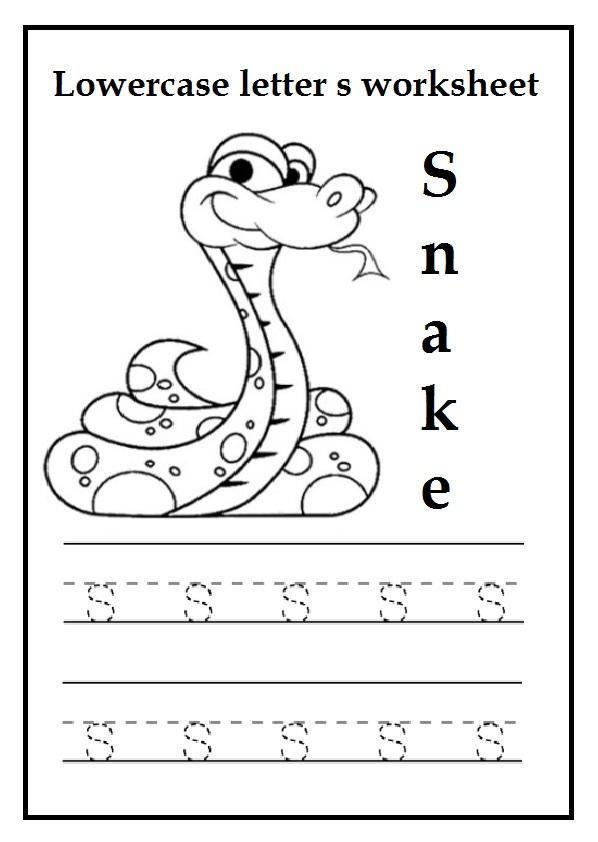 Lowercase Letter S Worksheets / Free Printable - Preschool ...