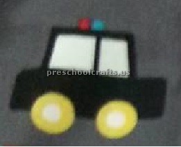 Police car craft idea for preschool and kindergarten
