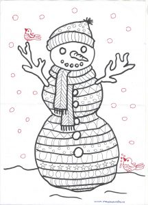 Snowman free printable craft template