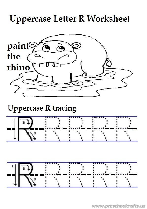 Lowercase Letter r Worksheet Free Printable Preschool