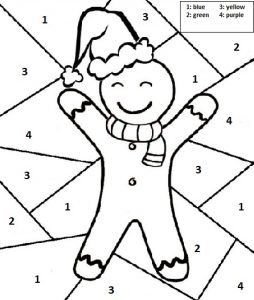 christmas cookies color free printable worksheets for preschool