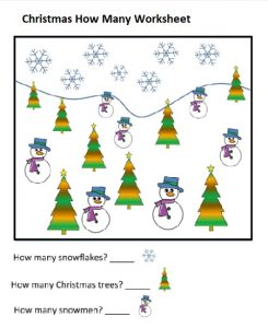 christmas free printable mathematic activity sheets for kindergarten