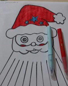 christmas santa claus kids craft activity