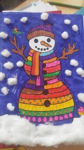 easy fun snowman crafty for preschool