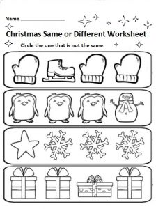 photograph relating to Free Printable Holiday Worksheets named Xmas No cost Worksheets for Children - Preschool and Kindergarten