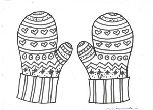 free printable winter mittens mandala coloring pages for kids
