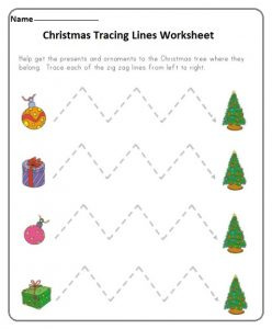 kids tracing lines worksheets for new years