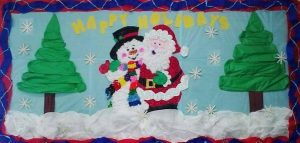 kindergarten bulletin board ideas for christmas