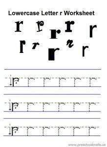 lowercase letter r practice worksheet for preschool free printable