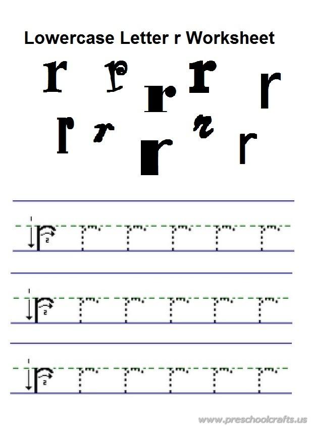 lowercase letter r practice worksheet for preschool free ...