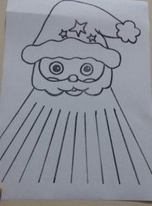 preschool christmas santa claus craft idea