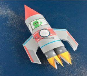 rocket craft idea for kindergarten and preschool