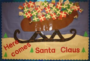 santa claus christmas bulletin board ideas for teachers