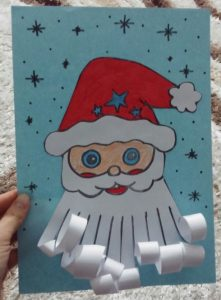 santa claus craft idea for kids