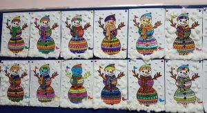 snowman new year bulletin boards