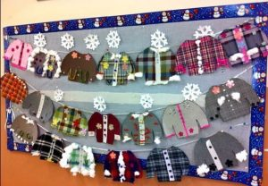 winter clothes kindergarten bulletin board ideas