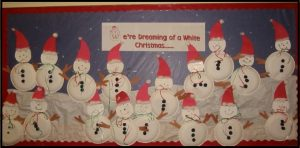 winter happy new year bulletin board ideas with snowman