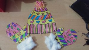 winter hat and mittens yarn craft ideas for preschoolers