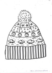 winter hat printabled pattern for preschoolers