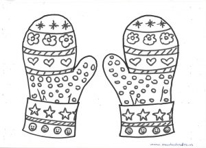 winter mittens printabled patterns for preschoolers