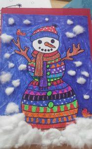 winter snowman preschoolers craft activity
