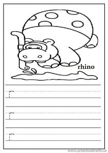write the lowercase letter r worksheet for preschoolers free printable