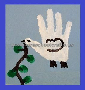 Martin Luther King Day Hand Print Craft Ideas for Preschool Kindergarten